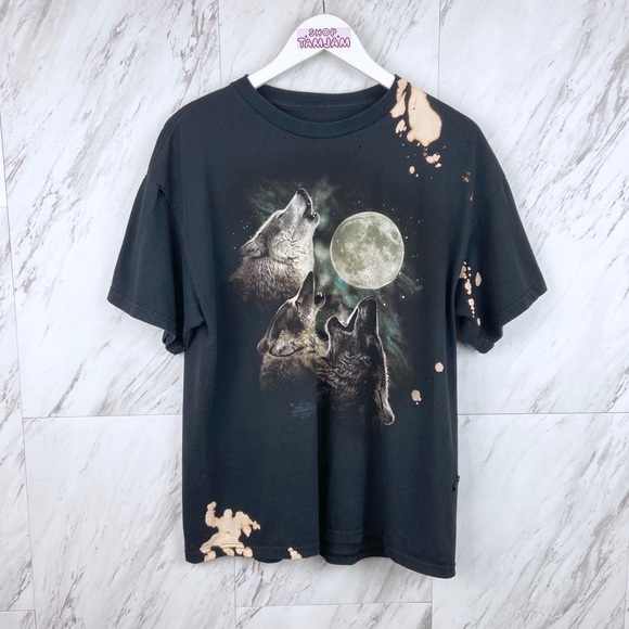 shoptamjam Tops - Mountain Y2K Howling Wolves T-Shirt